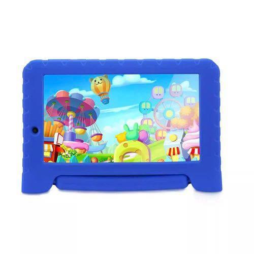 Tablet Multilaser Kid Pad Plus Azul 1GB Android 7 Wifi Memória 8GB Qua