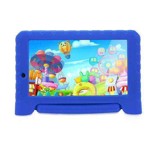 "Tablet Multilaser Kid Pad Plus Tela 7"" Quad Core Wi-Fi Dual Câmera Memória 8GB NB278 - Azu"