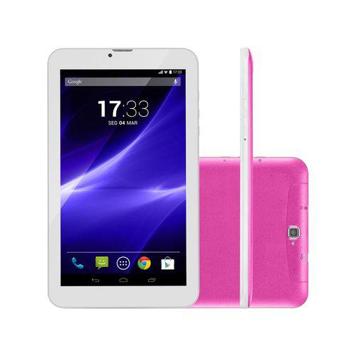 "Tablet Multilaser M9 8GB 9"" 3G Wi-Fi 5.1 Quad Core NB248 Rosa"