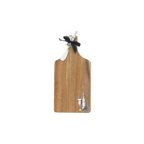 Tábua em Madeira com Espátula Vinhos 11,5x8,9x11,7cm