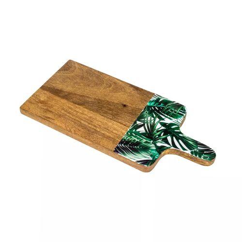 Tábua para Queijo em Madeira Bon Gourmet Leafage 35x15cm