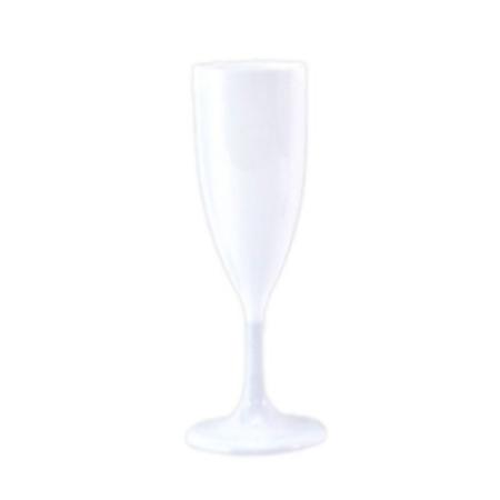 Taça Acrílica Champagne Branca 140ml Taça Acrílica Descartável P/ Champagne Branca 140ml - 5 Unidades