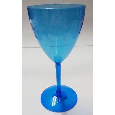 Taça Acrílica Vinho Azul 350ml