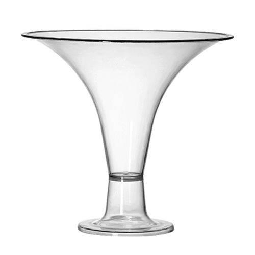Taça Acrílico Cristal Decorativa 1,2l - Três Triângulos