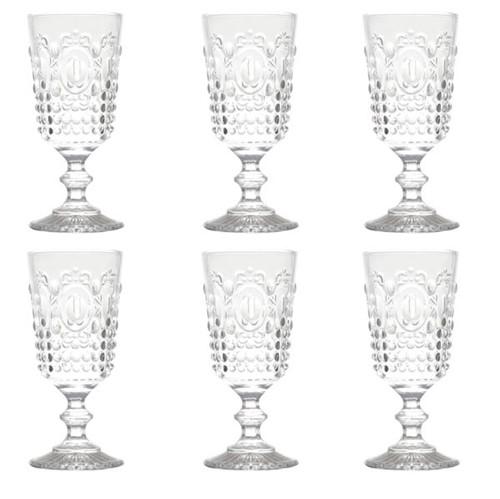 Taça Água Olimpo Vidro Transparente 275ML 6 Peças - 31224