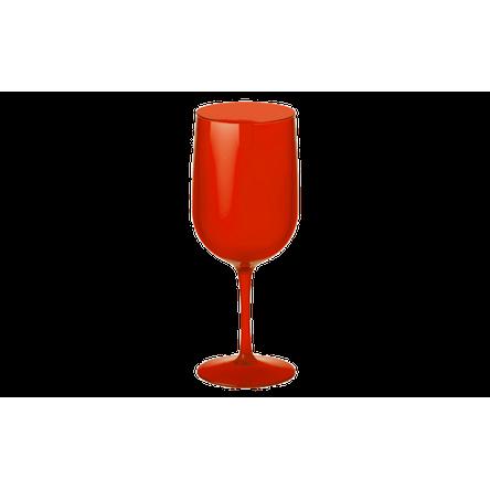 Taça Água/Vinho - Fun 8,1 X 8,1 X 20,5 Cm 380 Ml Vermelho Transparente Coza