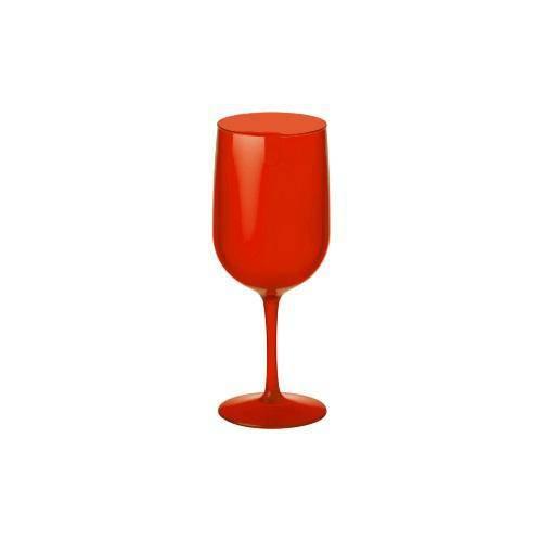 Taça Água/Vinho - Fun 380 Ml - Vermelho Transparente