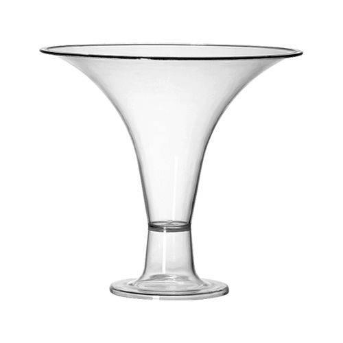 Taça Decorativa Acrílico Cristal 1,2L - Três Triangulos