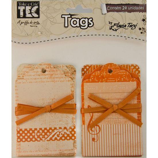 Tag Vintage Toke e Crie TV001 Laranja
