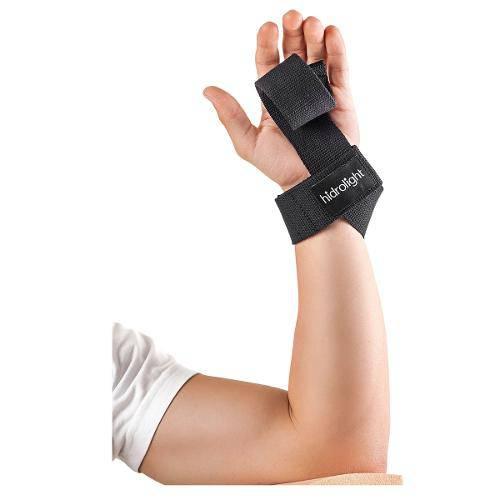 Tala de Punho Strap Basic Preta para Musculação H57 Hidrolight