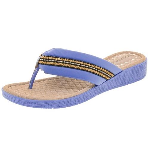 Tamanco Feminino Anabela Azul Piccadilly - 561005