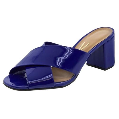 Tamanco Feminino Salto Médio Azul Vizzano - 6298105