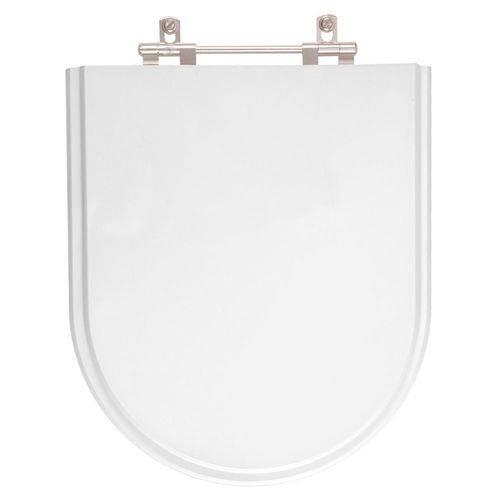 Tampa de Vaso Poliéster Carrara Branco para Vaso Sanitária Deca