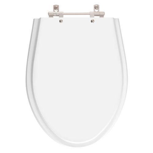 Tampa de Vaso Poliester Victoria Branco para Bacia Ideal Standard