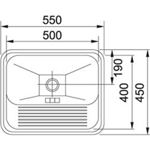 Tanque de Embutir Franke Monobloco 304 Polido Cromada