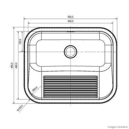 Tanque de Inox Monobloco 32 Litros Fosco de Sobrepor ou Embutir 11468 Franke