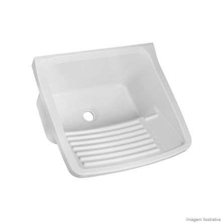 Tanque Lavanderia de Plástico 15 Litros Branco Astra