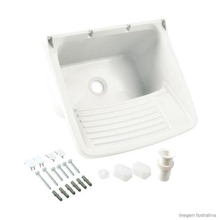 Tanque Lavanderia de Plástico 24 Litros Branco Astra