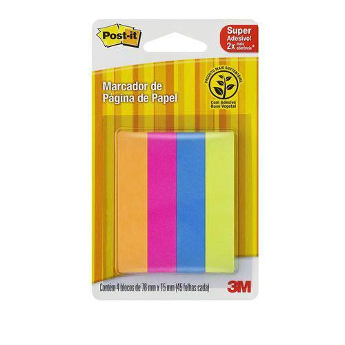 Tape Flags 4 Cores Sortido Papel Lr/rs/az/vd 180 Folhas 3m