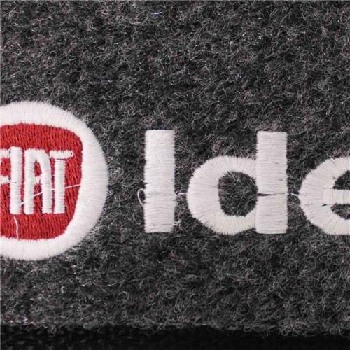 Tapete Carpete Idea Grafite 2005 2006 2007 2008 2009 2010 Logo Vermelho Bordado 2 Lados Dianteiro