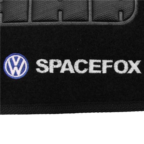 Tapete Carpete Personalizado Preto Spacefox 2006 2007 2008 2009 2010 2011 2012 2013 2014 Logo Bordad