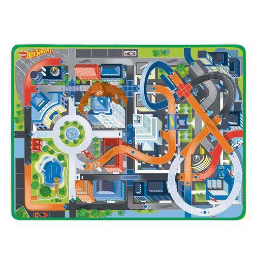 Tapete de Atividades Infantil Hot Wheels Fun Radical C/ 2 Carrinhos