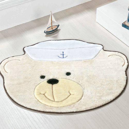 Tapete Formato Urso Marinheiro Palha