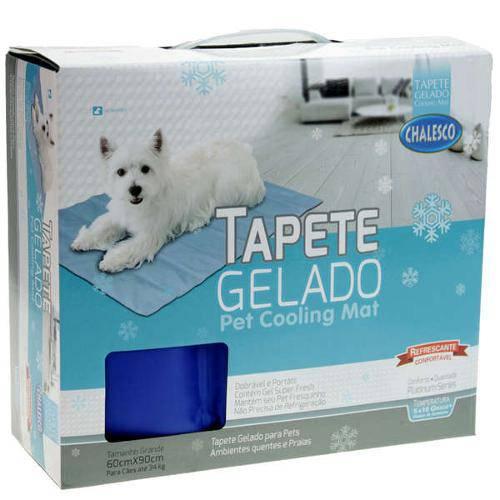 Tapete Gelado Chalesco Pet Cooling Mat Grande 60cm X 90cm