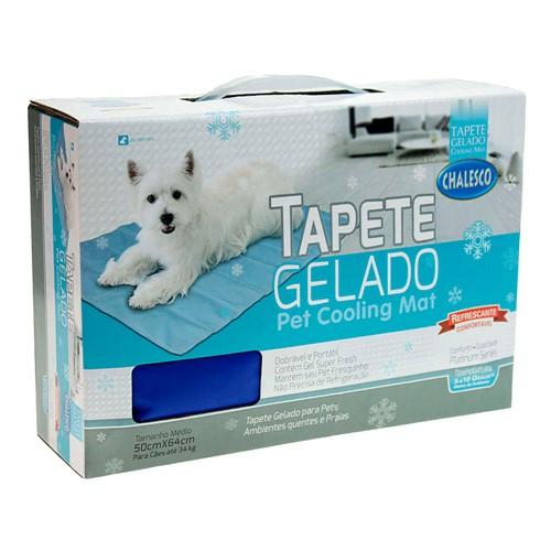 Tapete Gelado Chalesco Pet Cooling Mat Tamanho M 1 Unidade