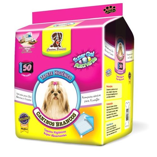 Tapete Higiênico American Pet Caninos Brancos para Cães 50 Unidades