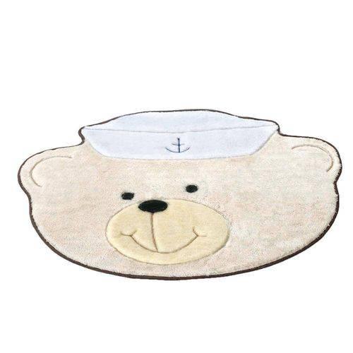 Tapete Infantil em Formato de Urso Marinheiro 78x58cm Palha