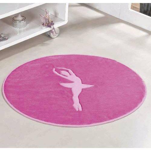 Tapete Infantil Pelúcia Decorativo Menina Bailarina - Pink
