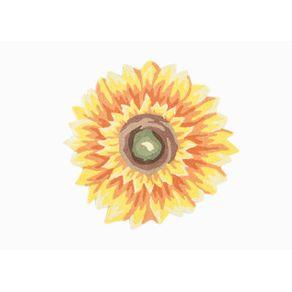 Tapete Las Flores Girassol Amarelo - U