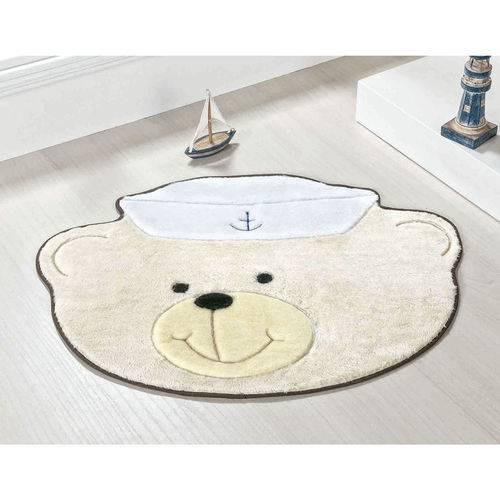 Tapete para Quarto Infantil de Bebê Urso Marinheiro Palha