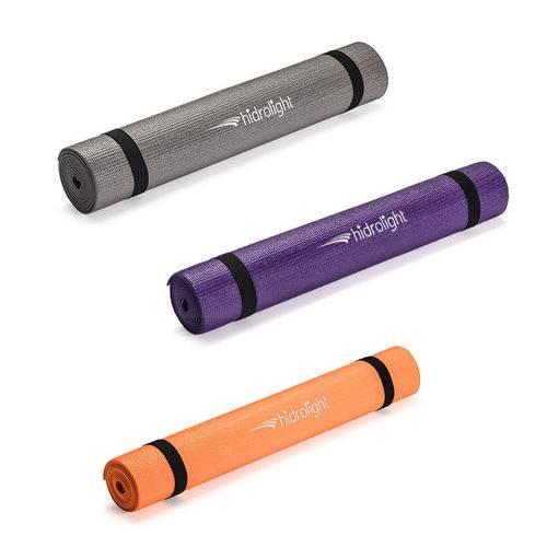 Tapete Yoga PVC 1,72x61x0,4 Cinza Hidrolight
