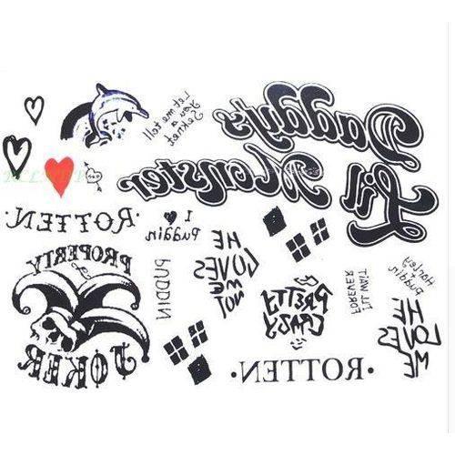 Tatuagem Temporária Arlequina Esquadrão Suicida – Femini