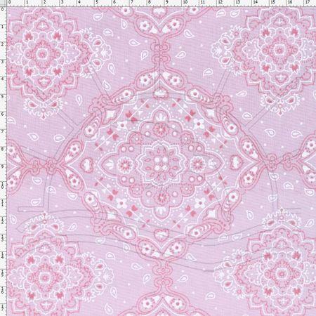Tecido Estampado para Patchwork - 30559 Bandana Rose Cor 23 (0,50x1,40)