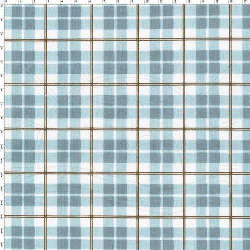 Tecido Estampado para Patchwork - 60371 Xadrez Azul Cor 02 (0,50x1,40)