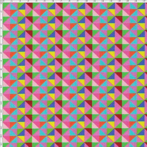 Tecido Estampado para Patchwork - Beach Triângulos Cor 01 (0,50x1,40)