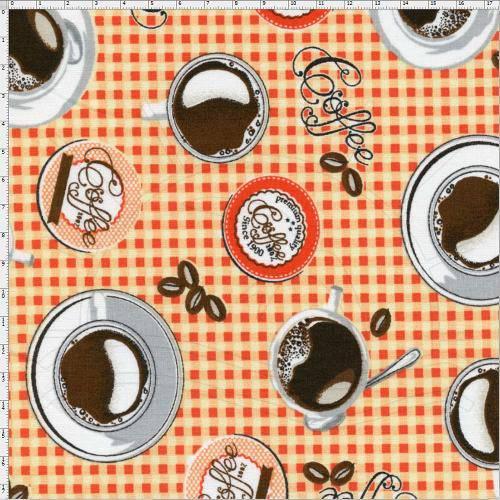 Tecido Estampado para Patchwork - Cafeteria Cor 01 (0,50x1,40)