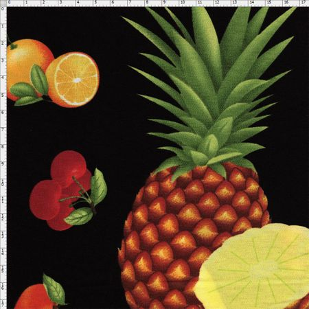 Tecido Estampado para Patchwork - Coleção Empório das Frutas e Legumes: Frutas Big (0,50x1,40)