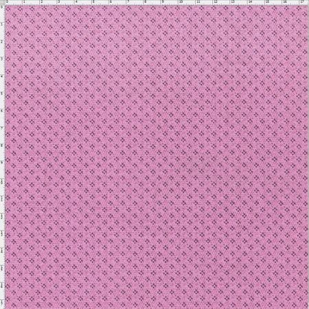 Tecido Estampado para Patchwork - Coleção Romance Clip Cor 02 Rosa (0,50x1,40)