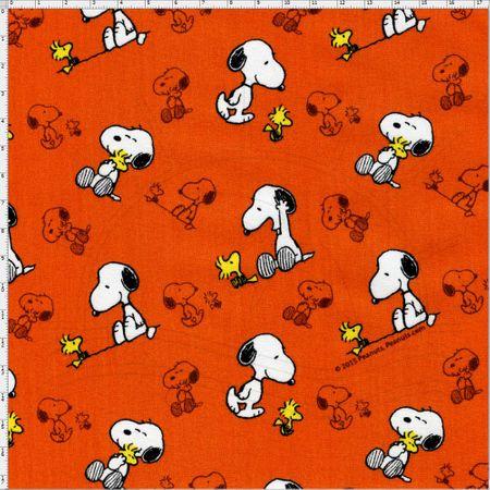 Tecido Estampado para Patchwork - Coleção Snoopy com WoodStock Cor 01 (0,50x1,40)