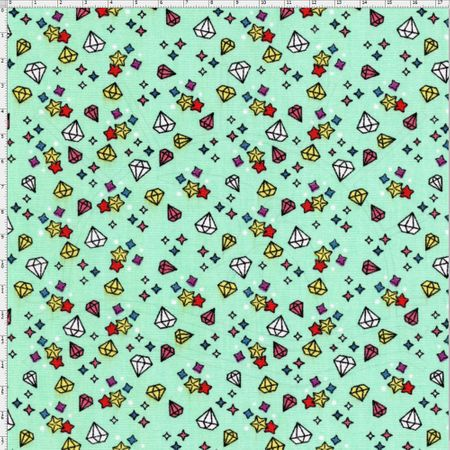 Tecido Estampado para Patchwork - Coleção Unicórnio Diamond Cor 01 (0,50x1,40)