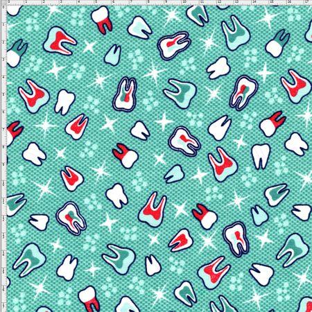 Tecido Estampado para Patchwork - Dentista Cor 1847 (0,50x1,40)