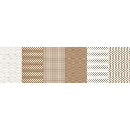 Tecido Estampado para Patchwork - Faixa Criativa Poá Areia (0,50x1,40)