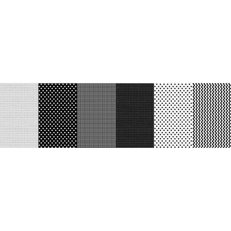 Tecido Estampado para Patchwork - Faixa Criativa Poá Preto (0,50x1,40)