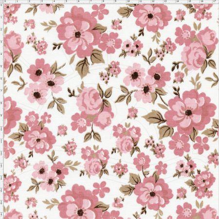 Tecido Estampado para Patchwork - Floral Pink Cor 1 (0,50x1,40)