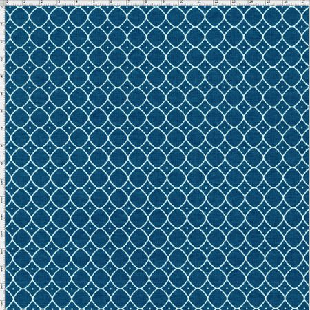 Tecido Estampado para Patchwork - Floral Veneza Rosa e Anil Cor 1932 (0,50x1,40)
