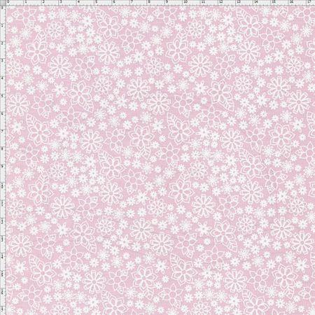 Tecido Estampado para Patchwork - Garden Mini Floral Cor 03 Rosa (0,50x1,40)